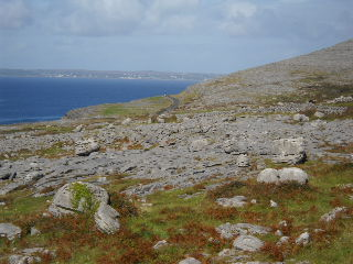 burren and sea
